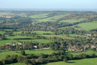 Aerial photograph of View north-west towards Shere