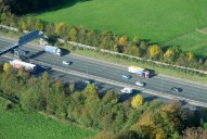 Aerial photograph of M25 north of Reigate