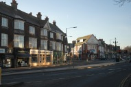 Town centre shops, West Byfleet
