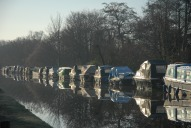 Boats on River Wey, New Haw