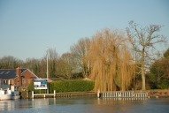 View to entrance to Shepperton Marina, Walton