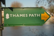 Thames path sign, Walton