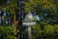 Westhumble village sign, Dorking